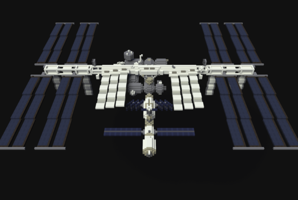 ISS Voxel Art
