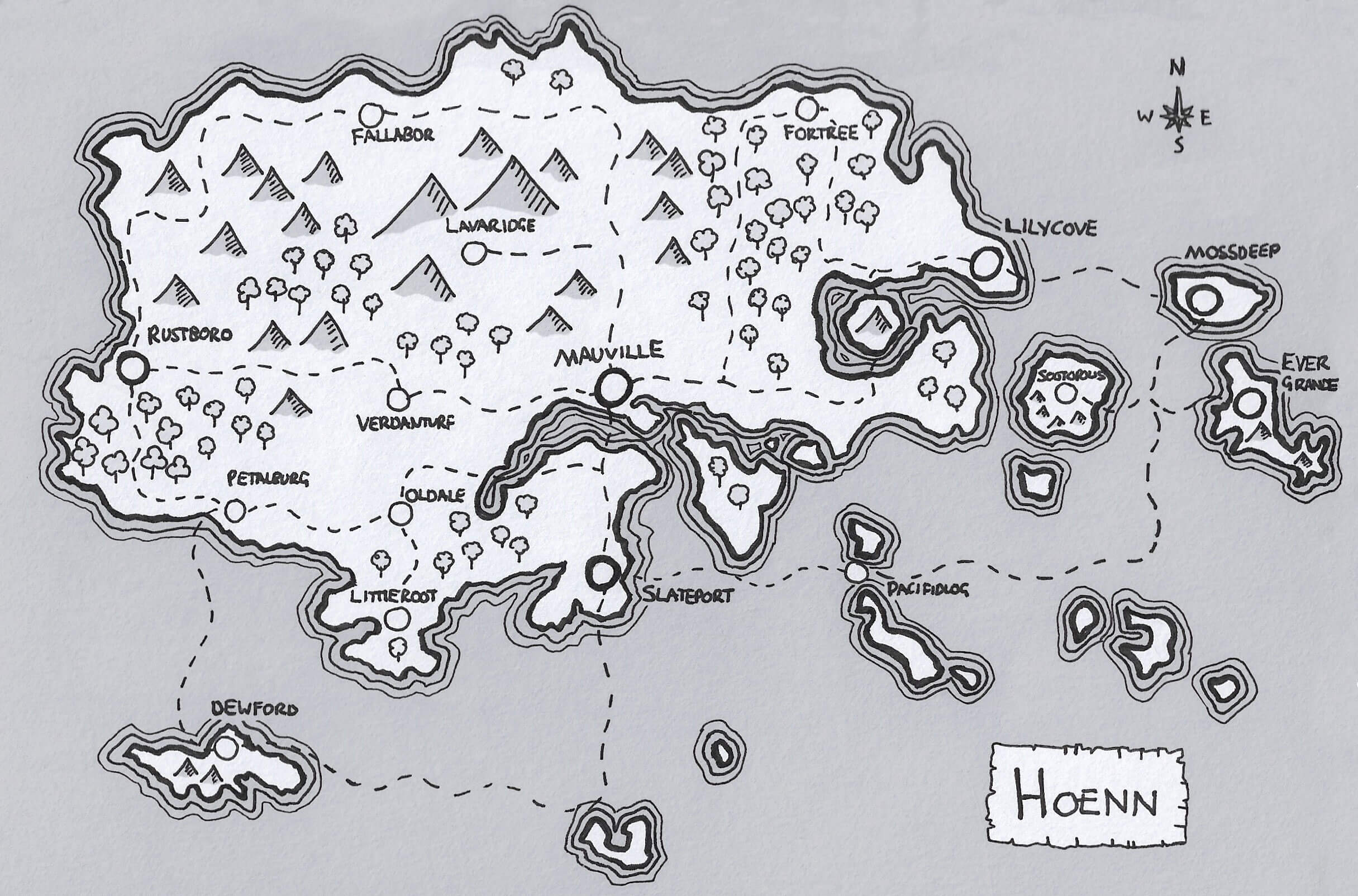 Hoenn Region Map